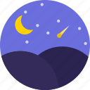 date, dating, love, night, romance, sky, valentines icon