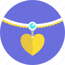 gift, heart, holidays, love, necklace, romance, valentines icon