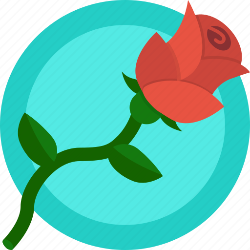 flower, gift, love, romance, rose, valentines icon