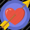 arrow, date, heart, love, romance, shoot, valentines