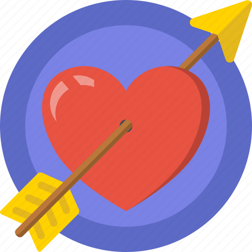 arrow, date, heart, love, romance, shoot, valentines icon
