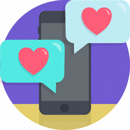 app, dating, love, romance, texting, tinder, valentines icon