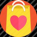 bag, gift, heart, romance, shopping, valentines