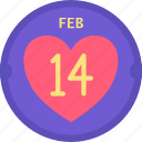 calendar, date, heart, holidays, love, romance, valentines icon