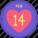 calendar, date, heart, holidays, love, romance, valentines