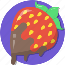 date, dating, love, romance, strawberry, valentines icon