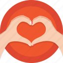 hands, heart, holidays, love, romance, valentines icon