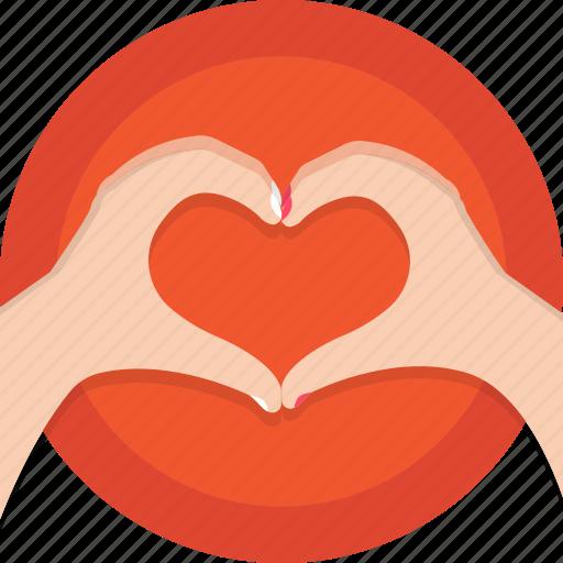 hands, heart, holidays, love, romance, valentines icon