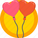 balloons, gift, holidays, love, romance, valentines icon