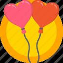 balloons, gift, holidays, love, romance, valentines