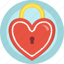 gift, heart, lock, locket, love, romance, valentines icon