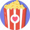 date, love, movies, popcorn, romance, valentines icon