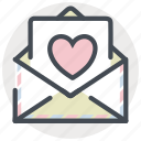 airmail, date, letter, love, romance, valentines icon