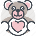 date, gift, love, romance, soft, teddy, valentines icon