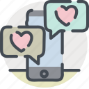 app, date, dating, love, texting, valentines icon