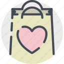 bag, date, gift, love, romance, shopping, valentines icon