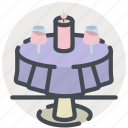 candlelit, date, dinner, love, meal, romance, valentines icon