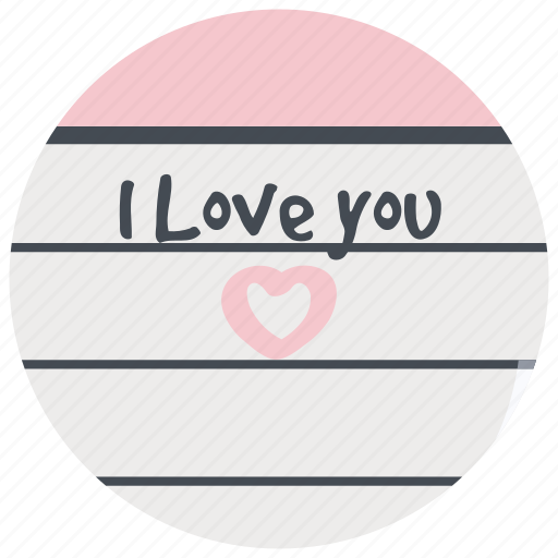 date, letter, love, note, romance, valentines icon