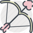 arrow, bow, date, love, romance, shoot, valentines icon