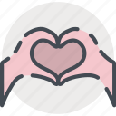 date, hands, heart, love, romance, valentines icon