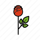 dating, flower, love, red, romantic, rose, valentine icon