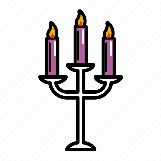 burning, candelabrum, candle, dating, fire, romantic, valentine icon