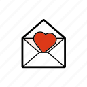 dating, heart, letter, love, romantic, valentine icon
