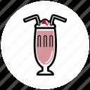 dating, milkshake, romantic, sweet, valentine icon