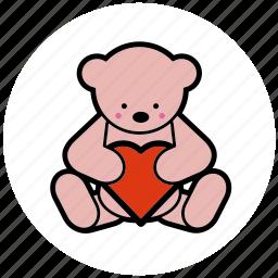 dating, gift, heart, romantic, teddybear, toy, valentine icon