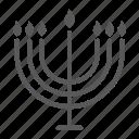 candle, hanukkah, israel, menorah, religion icon