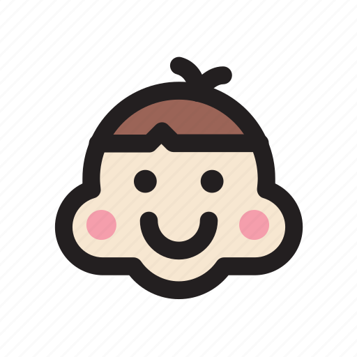 boy, emoticon, face, happy, rosycheeks, smile icon
