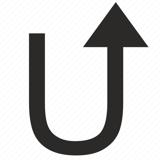 arrow, rotate, rotation, turn, u-turn icon