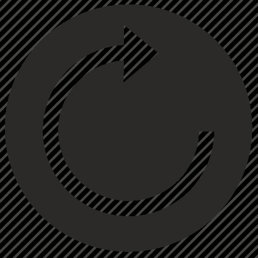 arrow, label, rotate, rotation, round icon