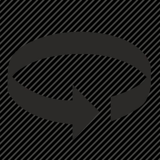 arrow, circle, full, rotate, rotation icon
