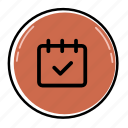 appointment, calendar, clock, day, event, month, schedule icon