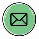 bubble, email, envelope, letter, mail, message, send icon