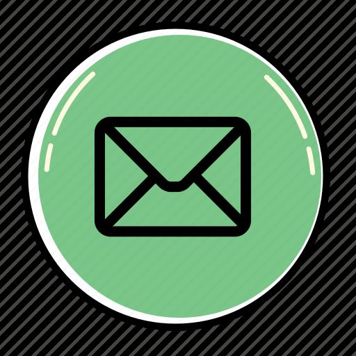 bubble, email, envelope, letter, mail, message, send icon