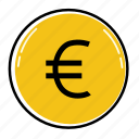 bank, cash, coin, euro, finance, money, payment icon