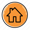 building, construction, estate, home, house, office, work icon