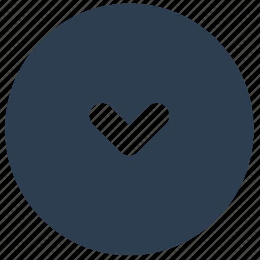 arrow, bottom, direction, down, small icon