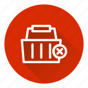 basket, cart, checkout, delete, shopping icon