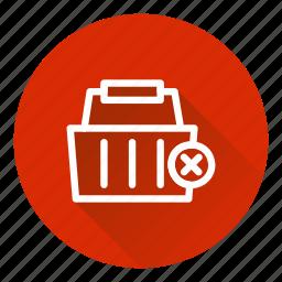 basket, cart, checkout, delete, shopping icon