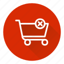 cart, cross, delete, shopping icon