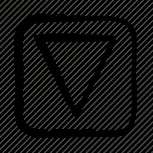 arrow, arrows, big, direction, down, move icon