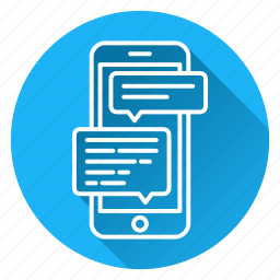 chat, discussion, message, mobile, phone, sms, support icon
