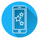mobile, phone, rating, review, star icon