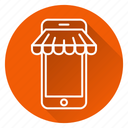 market, mobile, online, phone, shopping, store icon