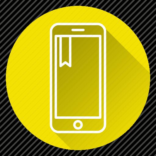 bookmark, favorites, mobile, phone icon