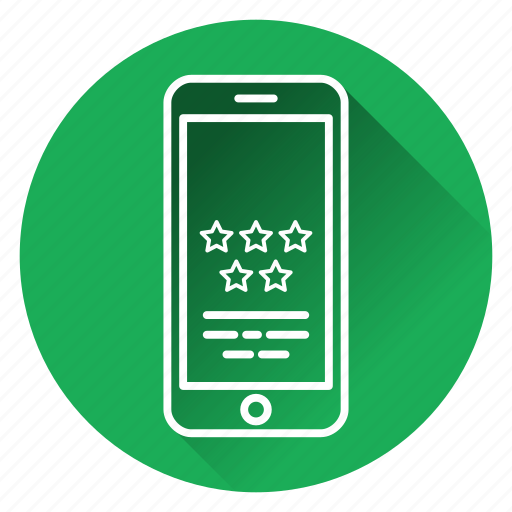appstore, phone, positively, rating, review, star icon