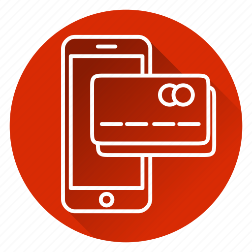card, credit card, mobile, money, payment, phone, shopping icon
